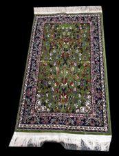 Madina Pray Mat ( Green & Red ) Made in Madina Soft Ideal gift (Islamic Prayer )